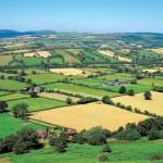 Traditional British landscape, Shropshire